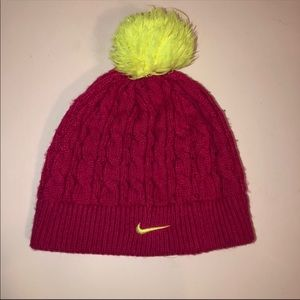 Nike Kid's Cable Knit Pom Winter Hat